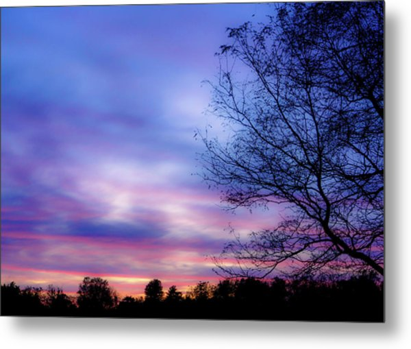 Cotton Candy Sunset In October Metal Print