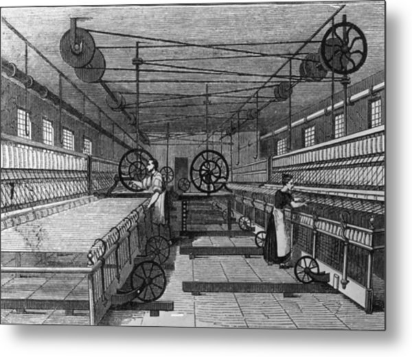 Cotton Mill Metal Print by Hulton Archive