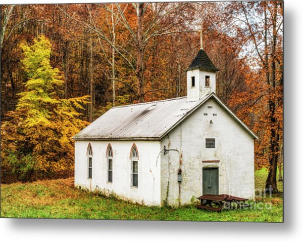 Country Church For Sale Metal Print