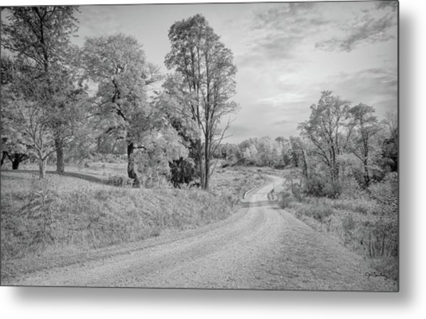 Metal Print featuring the photograph Country Road by John M Bailey