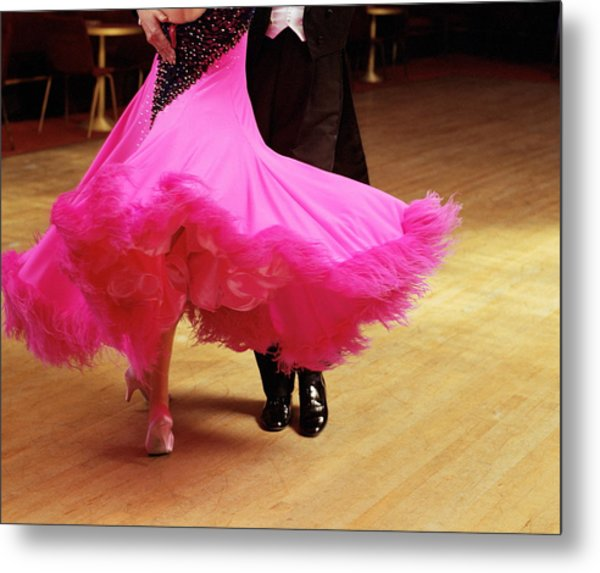 Couple Ballroom Dancing, Low Section Metal Print