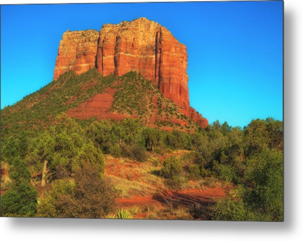 Courthouse Butte Metal Print by Fernando Margolles
