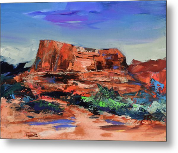Courthouse Butte Rock - Sedona Metal Print