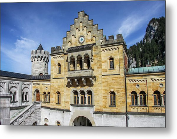 Metal Print featuring the photograph Courtyard, Neuschwanstein Castle by Dawn Richards