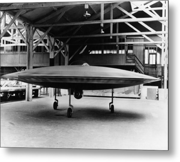 Couzinets Flying Saucer Metal Print by Keystone