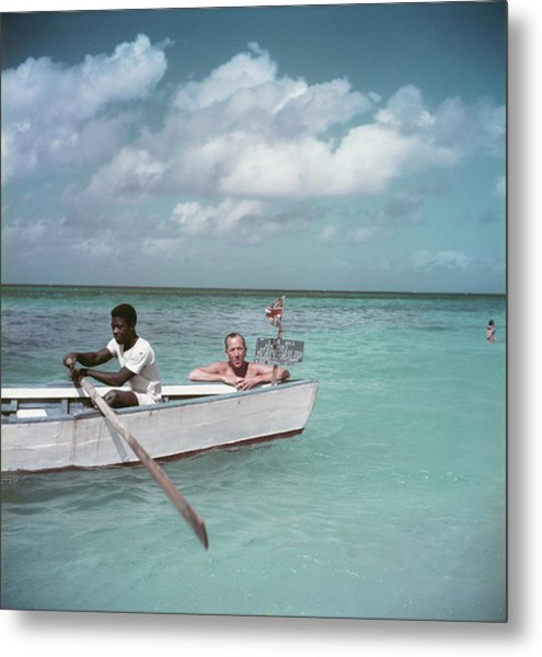 Coward Abroad Metal Print by Slim Aarons
