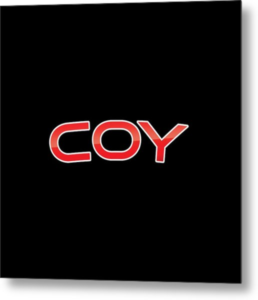 Coy Metal Print