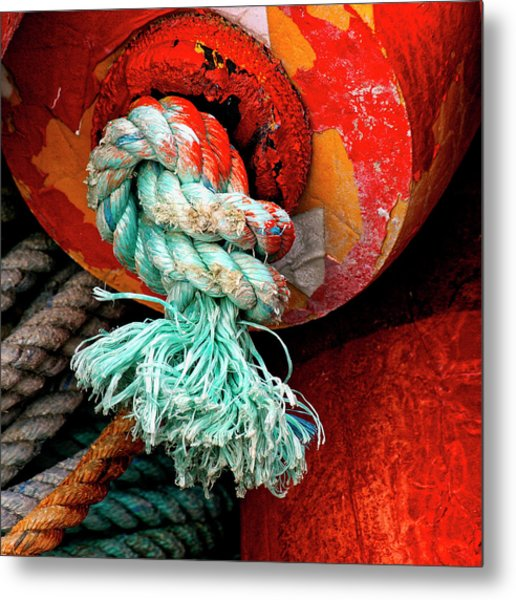 Crab Pot Buoy Detail Metal Print