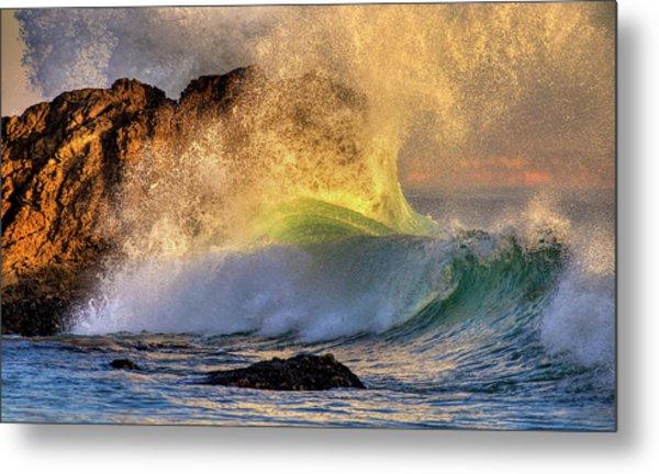 Crashing Wave Leo Carrillo Beach Metal Print
