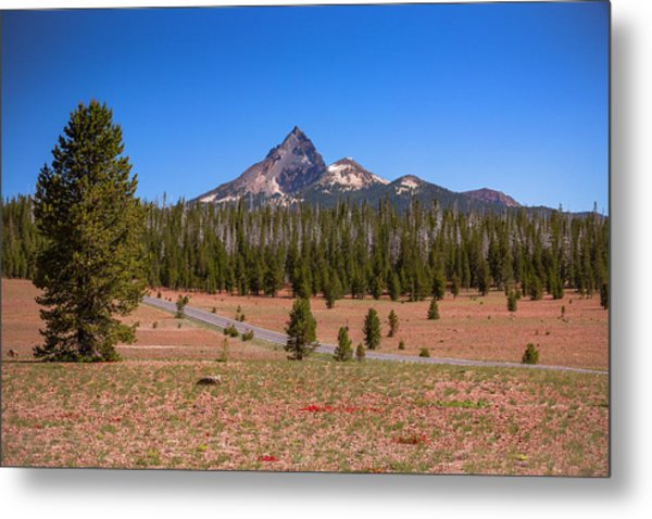 Crater Lake Np - Lightening Rod Of The Cascades Metal Print
