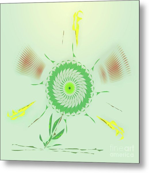 Crazy Spinning Flower Metal Print