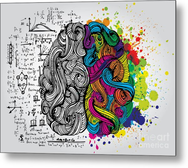 Creative Concept Of The Human Brain Metal Print