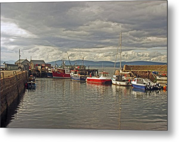 Cromarty. The Harbour. Metal Print