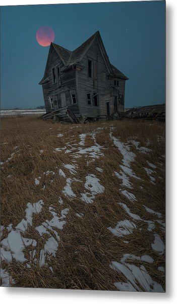 Metal Print featuring the photograph Crooked Moon by Aaron J Groen