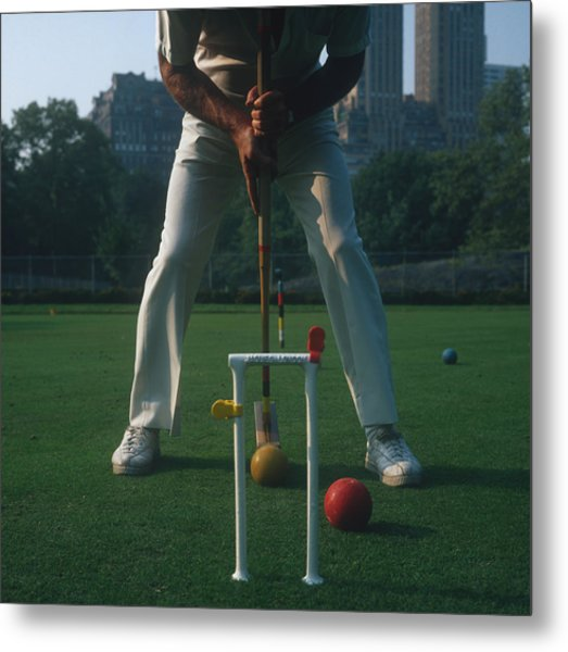 Croquet Player Metal Print