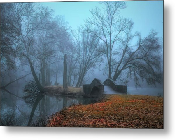 Crossing Into Winter Metal Print