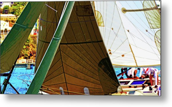 Crossing Sails Metal Print