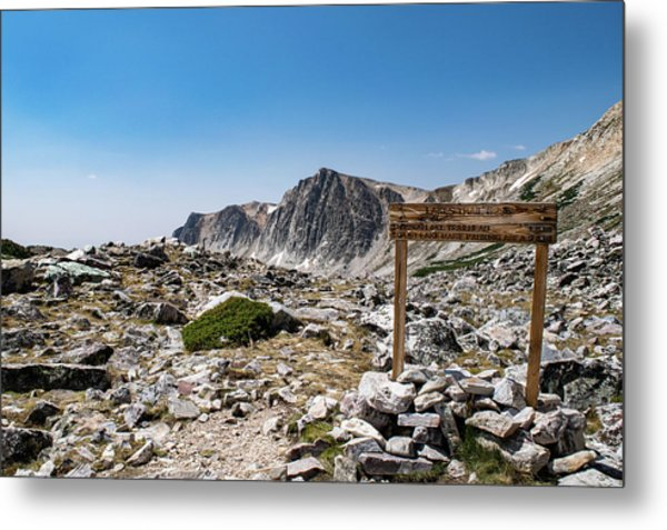 Crossroads At Medicine Bow Peak Metal Print