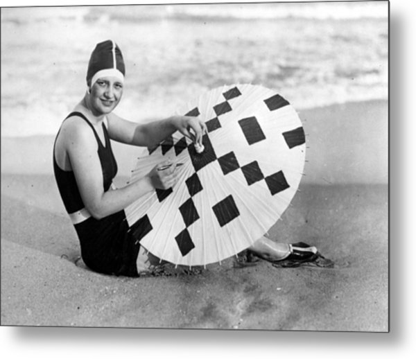 Crossword Parasol Metal Print by General Photographic Agency