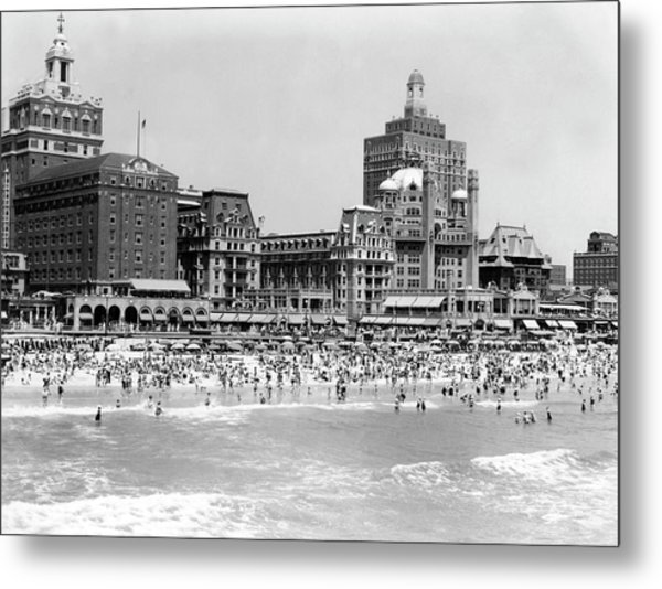 Crowded Beach Metal Print by H. Armstrong Roberts