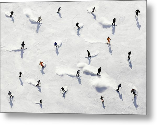 Crowded Holiday Metal Print