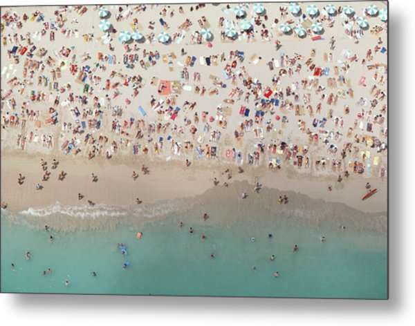 Crowded View, Aerial View Metal Print