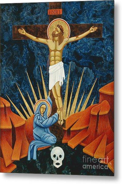 Crucifixion By Jodi Simmons Metal Print