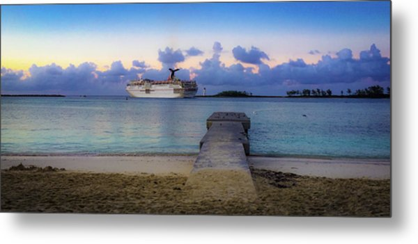 Metal Print featuring the photograph Cruise Ship Bahamas by Mark Duehmig