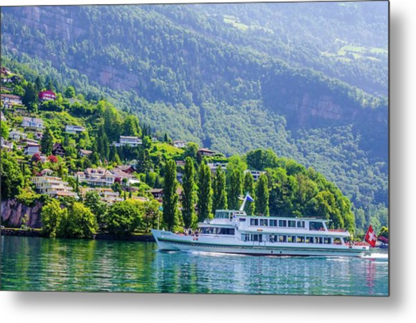 Cruising Lake Lucerne Metal Print