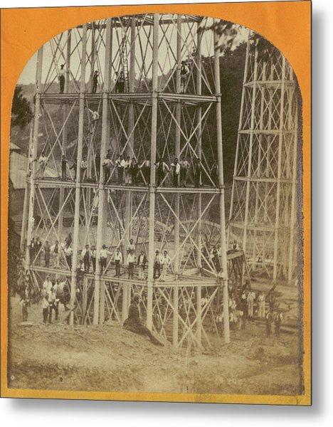 Crumlin Viaduct Metal Print by London Stereoscopic Company