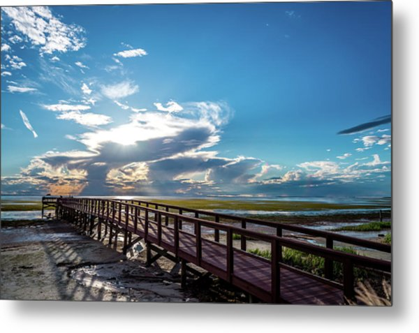 Crystal Beach Pier Metal Print