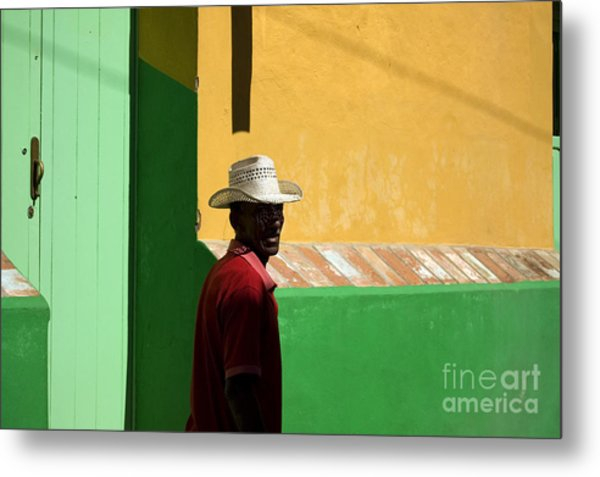 Cuban Man On The Beach Metal Print by Danijel Ljusic