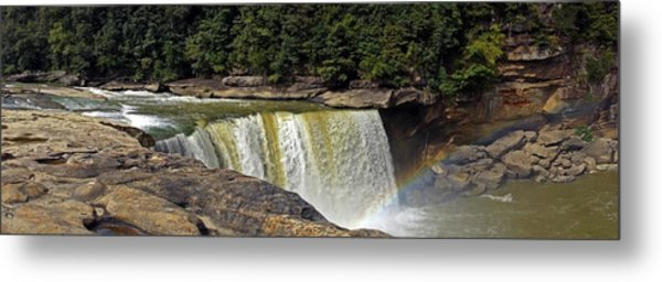 Metal Print featuring the photograph Cumberland Falls And Rainbow Panorama by Mike Murdock