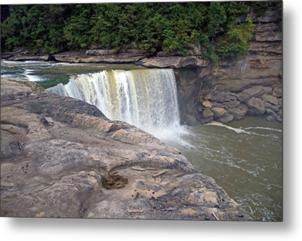 Metal Print featuring the photograph Cumberland Falls In The Evening by Mike Murdock