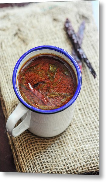 Cumin Pepper Rasam - Indian Soup Metal Print