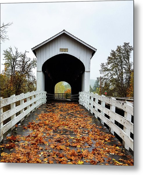 Curin Covered Bridge 1 Metal Print