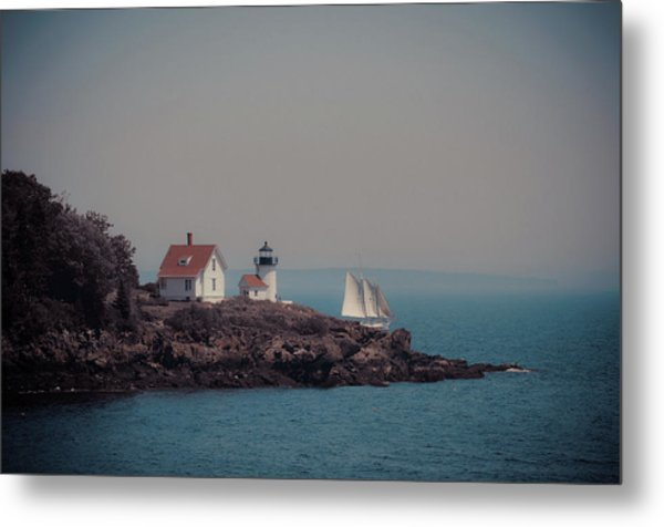 Metal Print featuring the photograph Curtis Island Lighthouse - Camden, Maine by Joann Vitali
