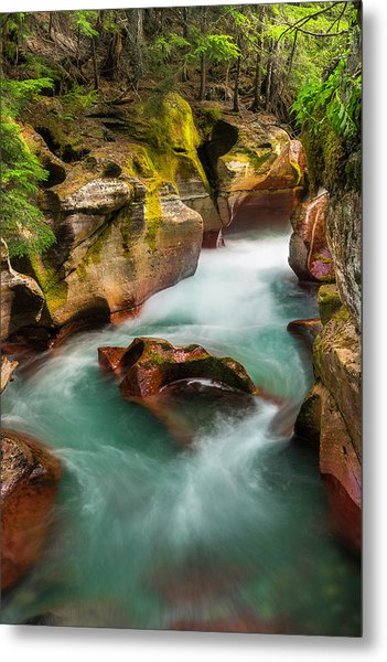 Metal Print featuring the photograph Cut Through The Heart by Expressive Landscapes Fine Art Photography by Thom