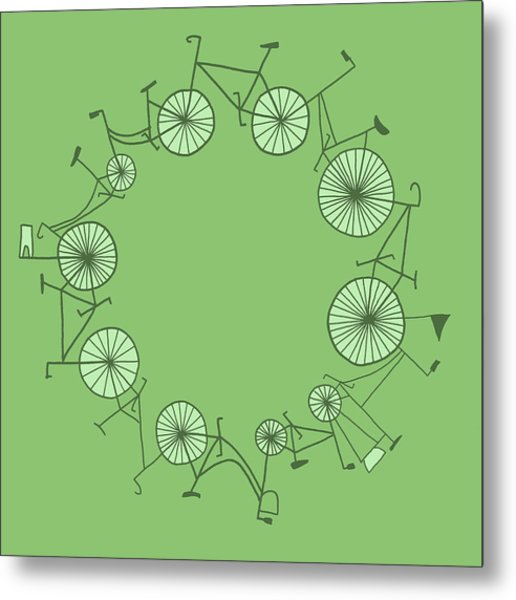 Cycle Metal Print by Illustrations