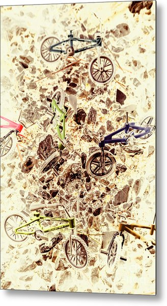 Cycling Abstracts Metal Print