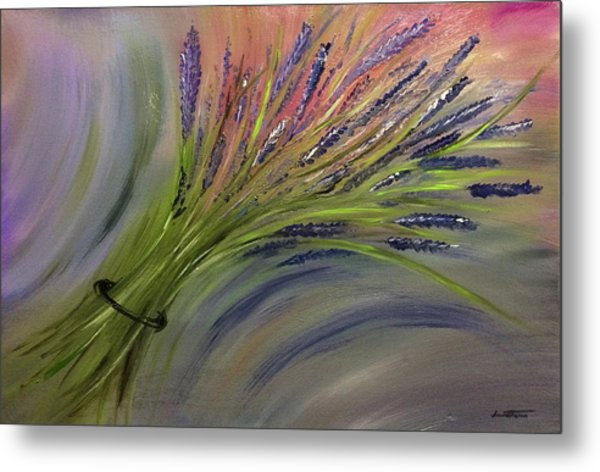 D077 - Lavender Bunch Metal Print
