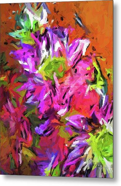 Daisy Rhapsody In Purple And Pink Metal Print