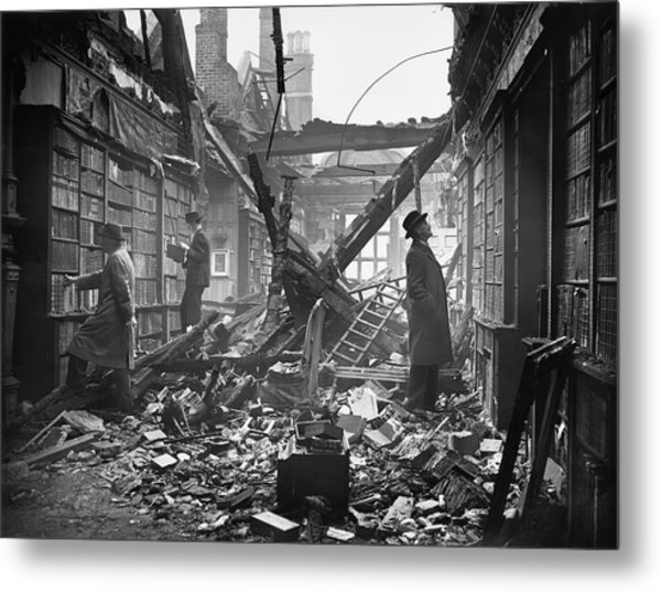 Damaged Library Metal Print