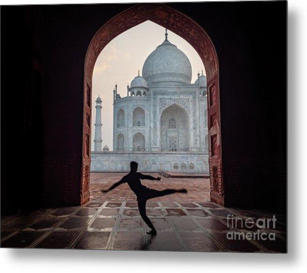 Dancer At The Taj Metal Print