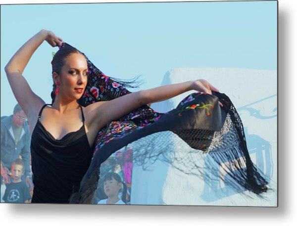 Dancer With Shawl Metal Print by Digby Merry