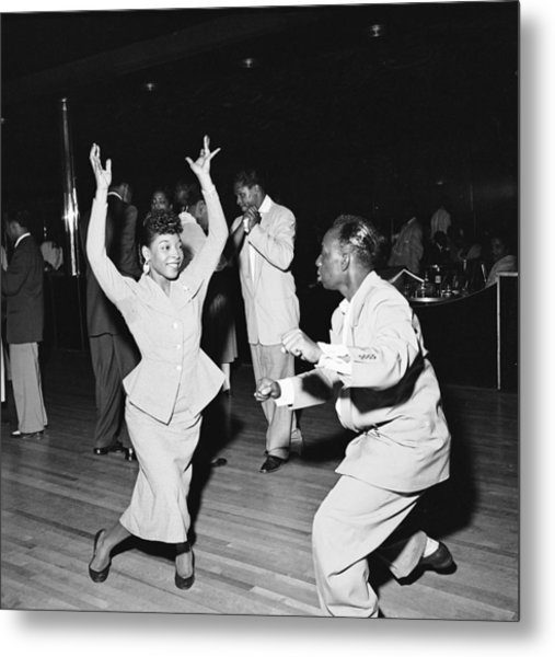 Dancing At The Savoy Ballroom Metal Print by Graphic House