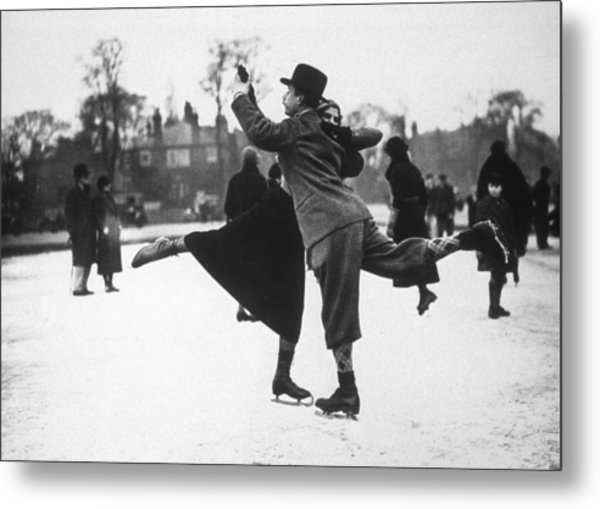 Dancing On Ice Metal Print by H. F. Davis