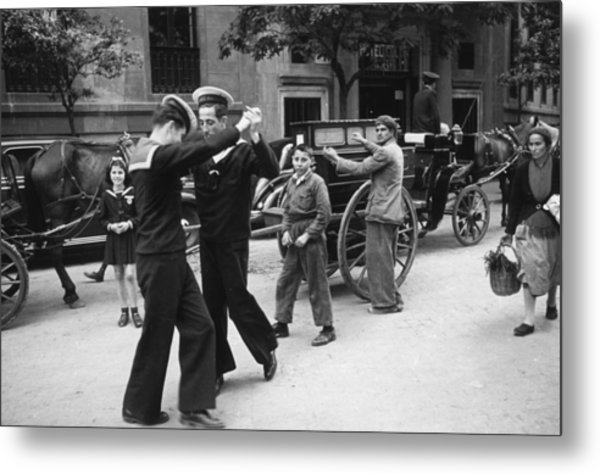Dancing Sailors Metal Print
