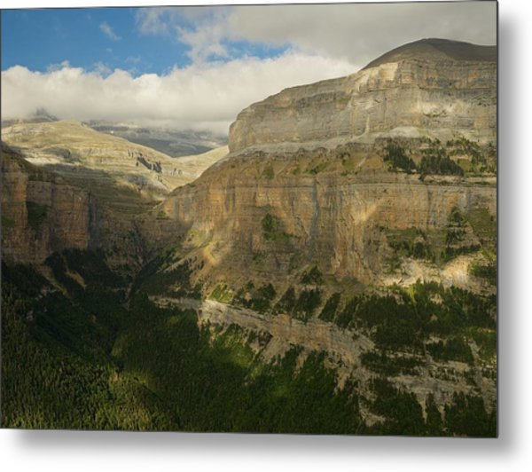 Metal Print featuring the photograph Dappled Light In The Ordesa Valley by Stephen Taylor