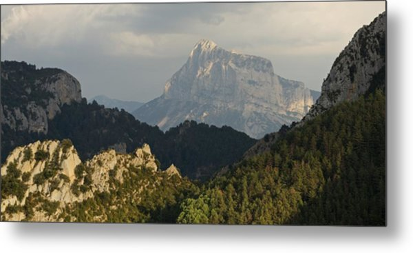 Metal Print featuring the photograph Dappled Light On Pena Montanesa by Stephen Taylor